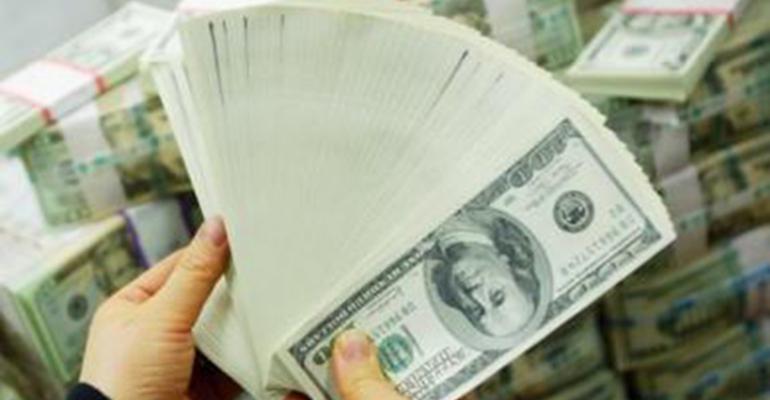 Handful of $100 bills