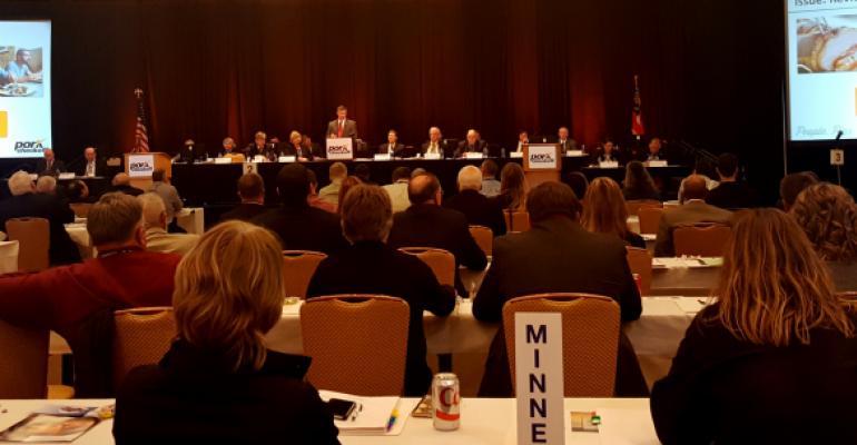 Pork delegate session at Pork Forum