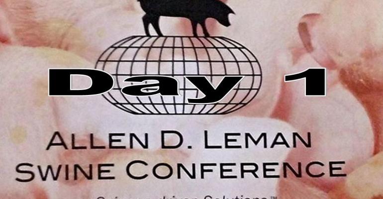 Day 1:  Allen D. Leman Swine Conference