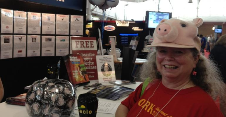 We didn39t catch her name but we really appreciated this woman39s pork industry enthusiasm during her visit to the National Hog Farmer booth during World Pork Expo