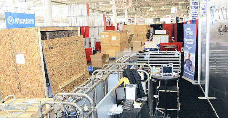 It appears to be a jumble of crates and loose equipment but by the time the doors open everything will be in place for the 2014 World Pork Expo
