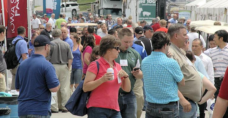 The crowds will be bigger than ever for the 2015 World Pork Expo in Des Moines June 35 2015 This shot from 2014 shows how busy the big event can get Check out the National Hog Farmer New Product Tour while you39re there at booth V625