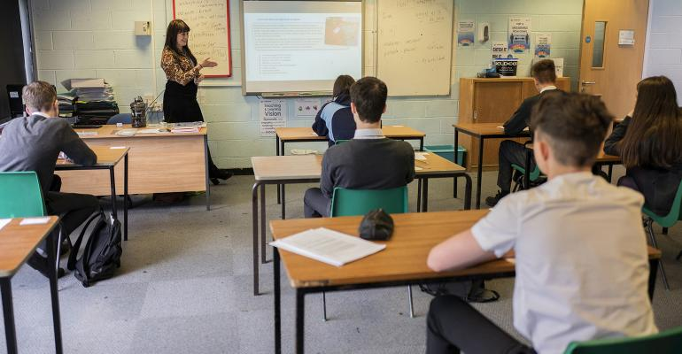 Social distancing in the classroom