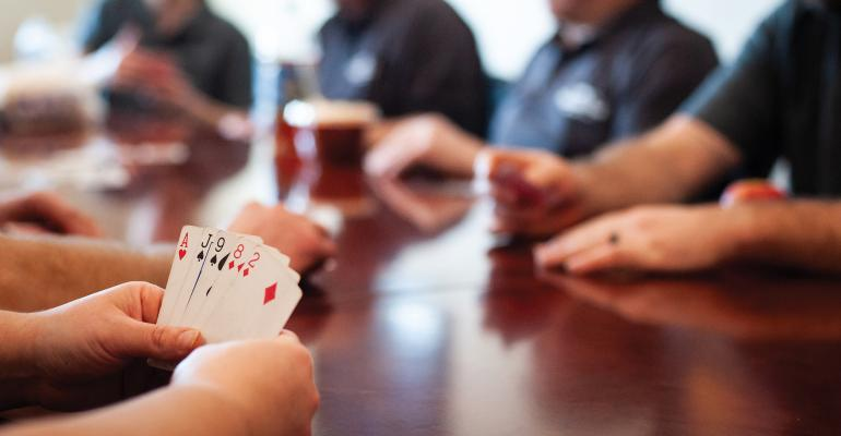 During the noon hour, Wakefield employees often play card games that can get pretty intense. Co-owner Mary Langhorst says even if the card games go longer than an hour.