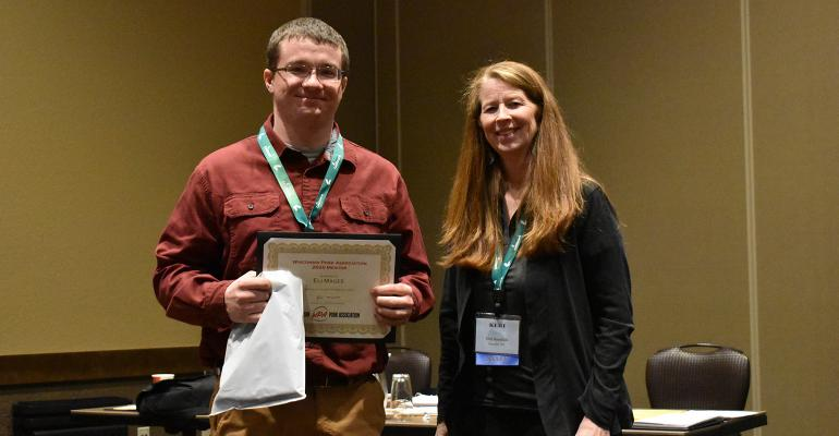 Eli Magee was one of three selected as the next class of participants in Wisconsin Pork Association's Pork Mentorship Program, which has a strong focus on career development and is designed to expand students' knowledge of the swine industry.