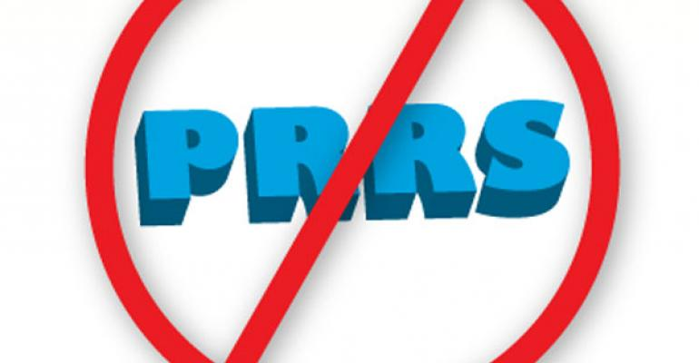 Strike-out PRRS logo