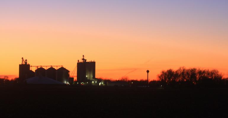 Rural sunset mill