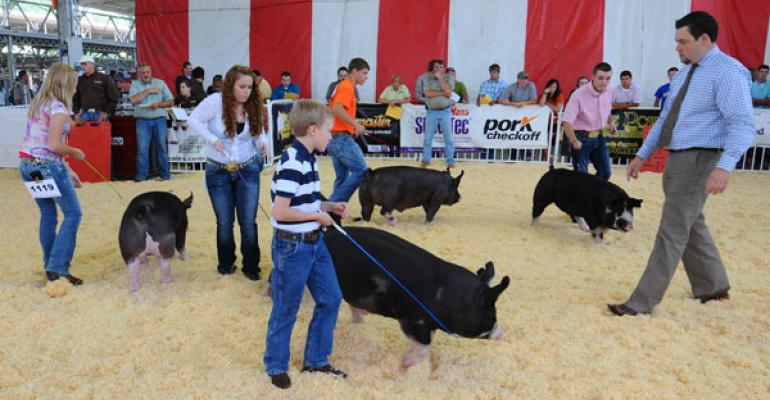 World Pork Expo Sets Livestock Show, Largest Burger Records