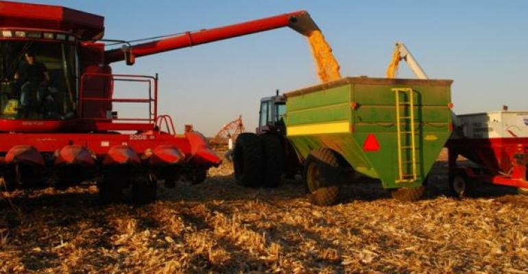 Corn harvest has started in parts of the United States this week