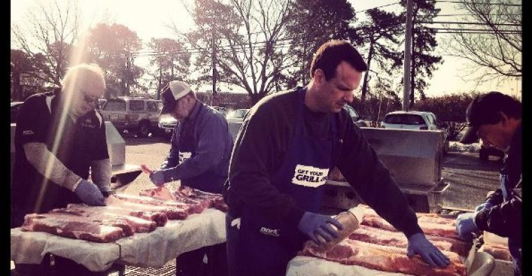 Pork Producers Grill for storm victims in New Jersey
