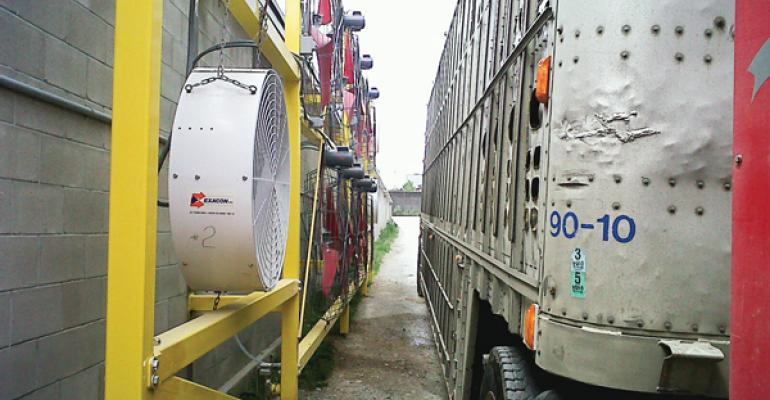 Reducing the stress of heat and humidity was the goal of a livestock transport study coordinated by Ontario Pork