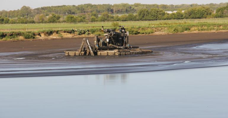 Lagoon supernatant can be irrigated onto standing crops in some situations