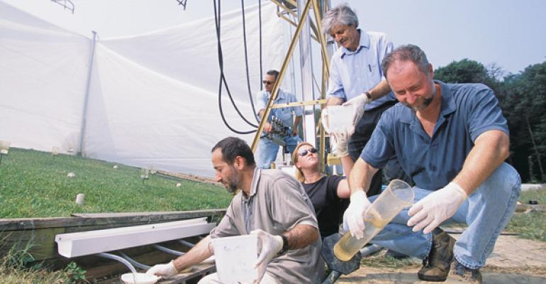 USDAARS staff measure runoff from manure application trials
