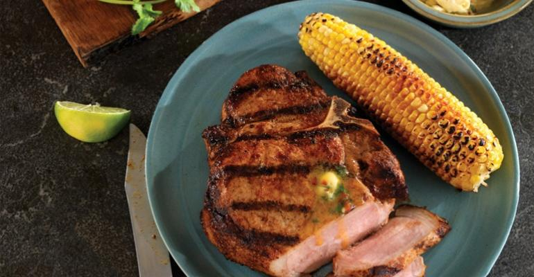 Grilled Porterhouse Pork Chop