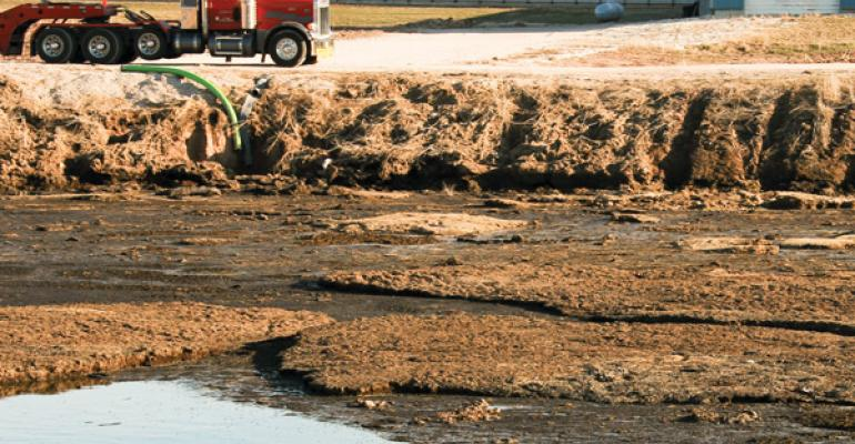 Inground earthen manure storages can be damaged by erosion and equipment