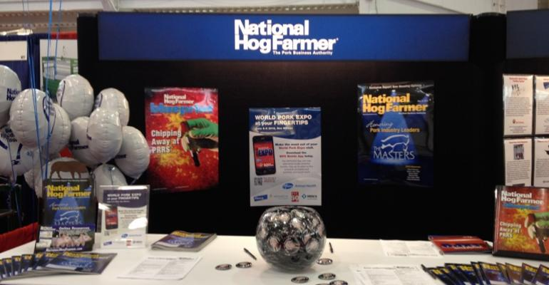 Come visit the National Hog Farmer booth at World Pork Expo