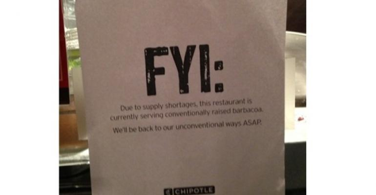Chipotle Reconsiders its No-Antibiotic Policy