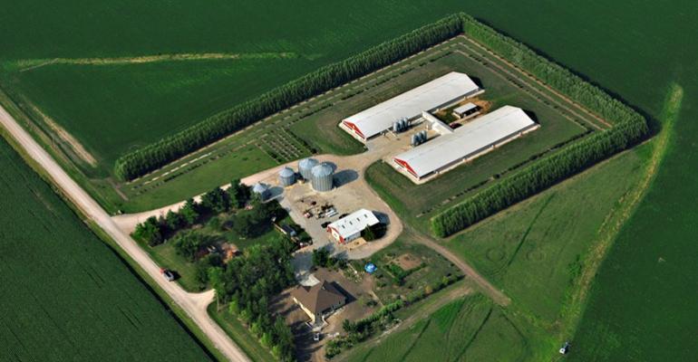 Aerial photo of farm