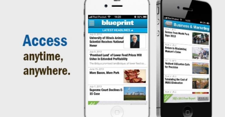 New App Delivers Blueprint Content