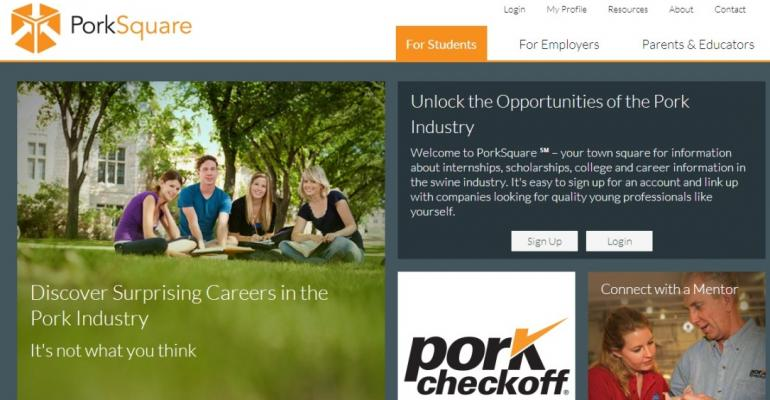 Pork Board Launches Youth Careers Site