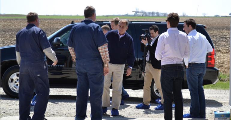 Speaker of the House John Boehner Visits Ohio Pig Farm