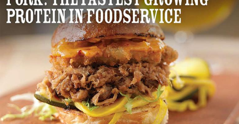 Pork's annual growth rate in foodservice outpaces other proteins