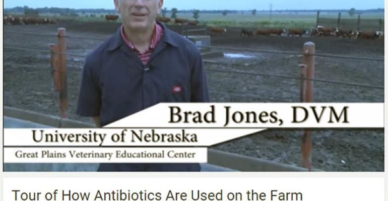 Brad Jones University of Nebraska DVM explains the decisionmaking process regarding antibiotic use in cattle and pigs including the diagnosis of illnesses treatment and antibiotic use considerations and how animals are tracked from antibiotic administration to harvest