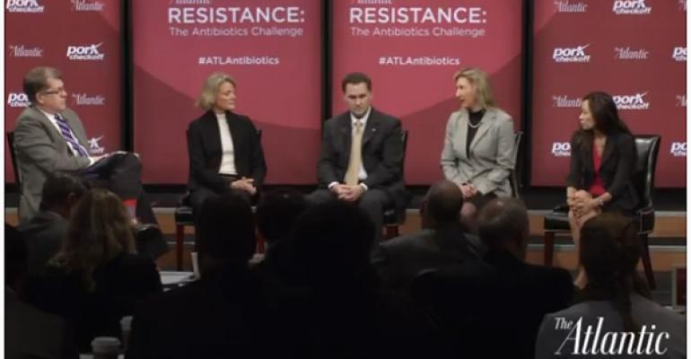 Steve Clemons left moderates the Farm to Table portion of the quotResistance The Antibiotics Challengequot forum Wednesday in Washington DC Panel members left to right are Christine Daugherty Colby Ferguson Susan Vaughn Grooters and Christine Hoang
