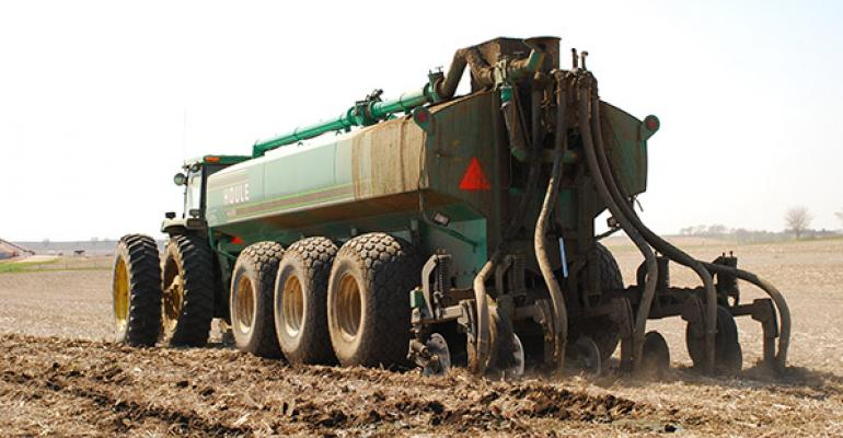 What does manure application cost?