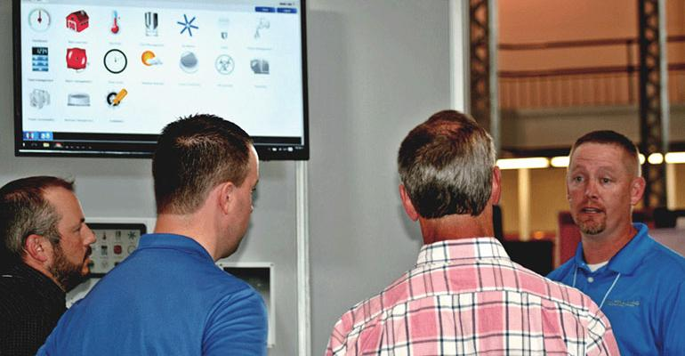 Wesley Lack right explains to the panel that the Maximus System unlocks an entirely different way for farmers to see their ventilation system in action