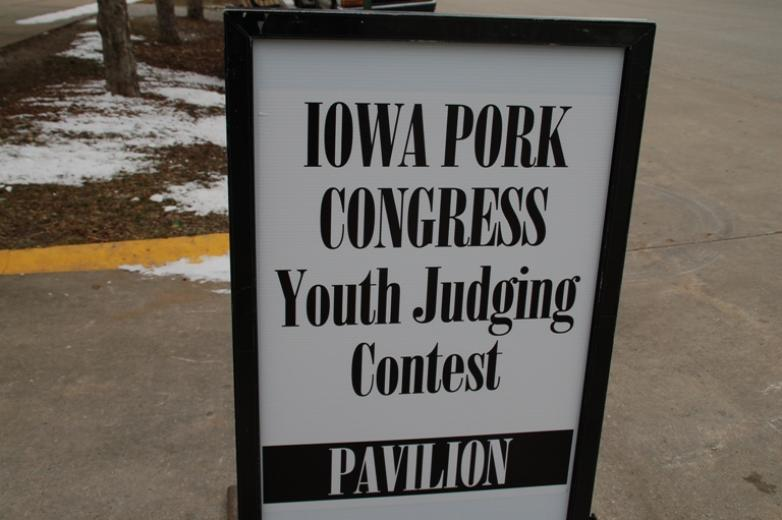 2013 Iowa Pork Congress Youth Judging Contest