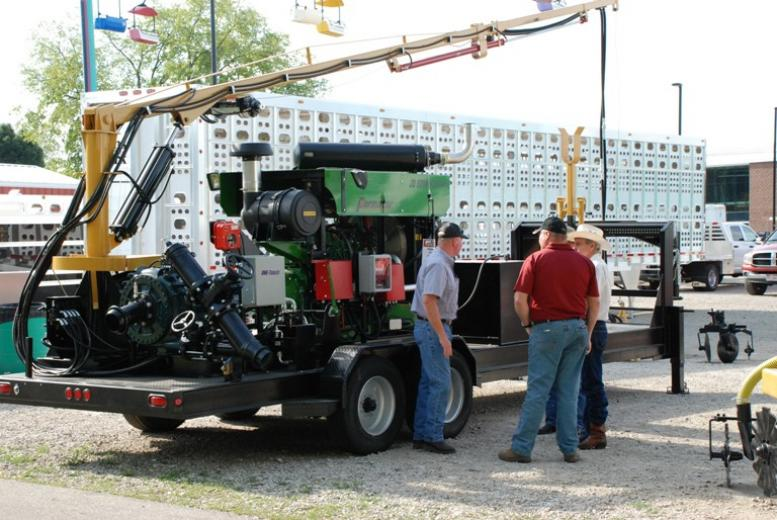 Exhibits were located inside and out at 2012 World Pork Expo.