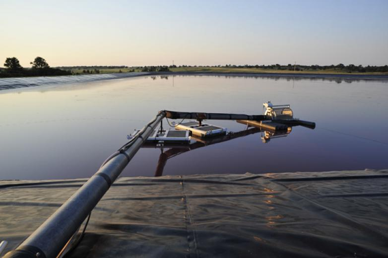Lagoons are Pumped for Field Irrigation