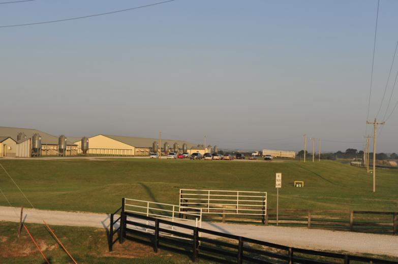 Farm Site Sits on Elevated Pad