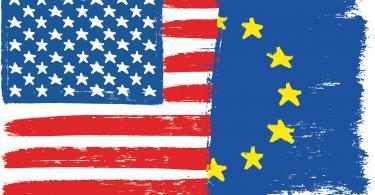 U.S.-European Union flags