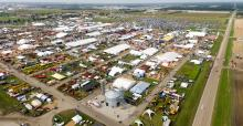 aerial of Farm Progress Show