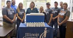 The Illinois Pork Producers Association has partnered with ICC Agriculture program to donate 100 lbs. of ground pork to the ICC Food Pantry.