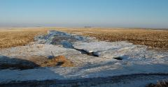 Special care is needed to prevent manure runoff in late-winter early spring