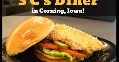 """Three C's Diner of Corning took home the 2018 top award with their """"Award Winning Hand-Breaded Tenderloin."""""""