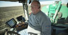 A farmer practicing good manure management.