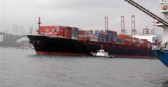 Ship full of containers for export
