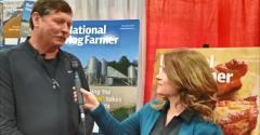 Ron Prestage speaks with Cheryl Day , National Hog Farmer