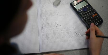 Math calculations and a calculator