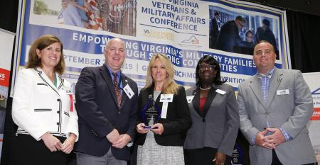Smithfield Foods received the Virginia Values Veterans Triumph Award for creating employment opportunities for veterans.