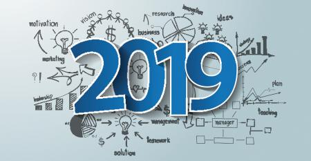 white board schematic of strategic planning for 2019
