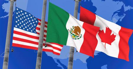 US, Canada, Mexico flags