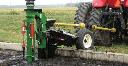 agitating foaming manure in a pit